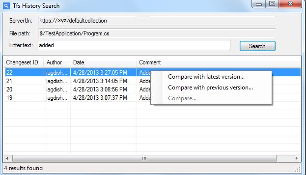 TFS History Search - Visual Studio Marketplace